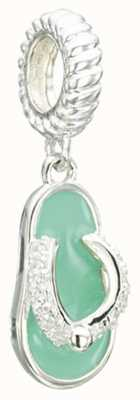 Chamilia Toes in the Sand - Flip Flop - Swarovski Zirconia and Turquoise Enamel 2025-1419