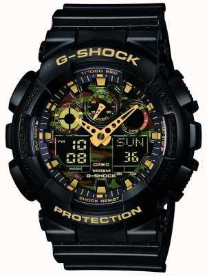Casio G-Shock Chronograph Alarm Camouflage Dial GA-100CF-1A9ER