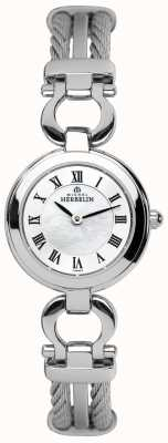 Michel Herbelin Womens Steel Cable Bracelet Watch 17422/B29