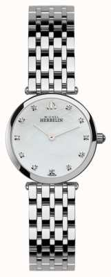 Michel Herbelin Womens Epsilon, Stone-Set, Pearl Dial Watch 1045/B59