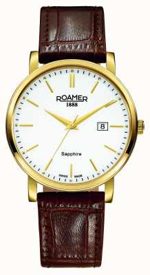 Roamer Classic Line | Brown Leather Strap | White Dial 709856 48 25 07