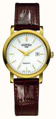 Roamer Classic Line | Brown Leather Strap | White Dial 709844-48-25-07