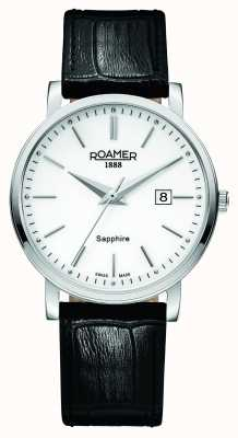 Roamer Classic Line | Black Leather Strap | White Dial 709856 41 25 07