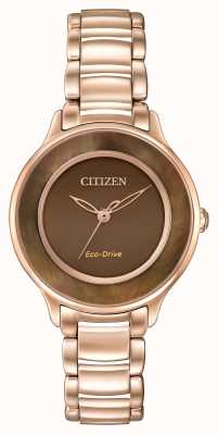 Citizen Eco-Drive L Circle Of Time Rose Gold EM0382-86X
