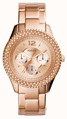 Fossil Womens Stella Rose Gold PVD Plated ES3590