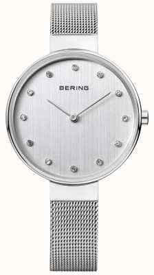 Bering Womens | Stainless Steel Mesh Strap | Silver Dial | 12034-000