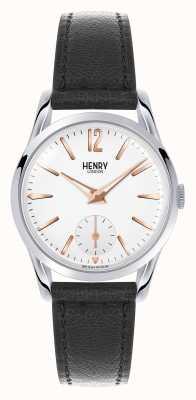 Henry London Highgate Black Leather Strap White Dial HL30-US-0001