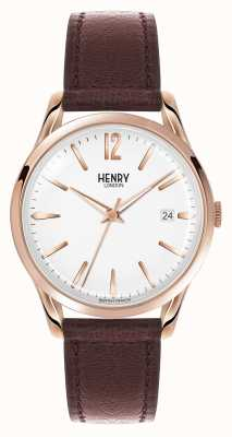 Henry London Richmond Brown Leather Strap White Dial HL39-S-0028