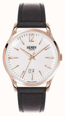 Henry London Richmond Black Leather Strap White Dial HL41-JS-0038