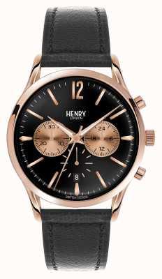 Henry London Richmond Black Leather Strap Chronograph HL41-CS-0042