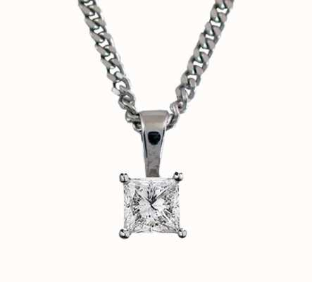 18ct White Gold 'Princess Cut' 0.50ct H SI PRINCESS-P050