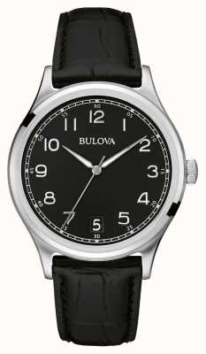 Bulova Gents Classic Black Leather Strap 96B233