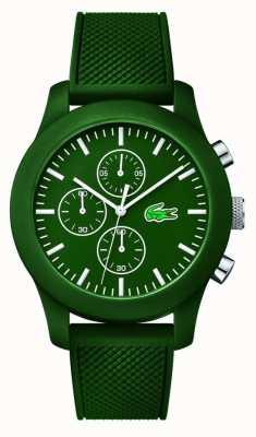 Lacoste Mens 12.12 Chrono Green Rubber Strap Green dial 2010822