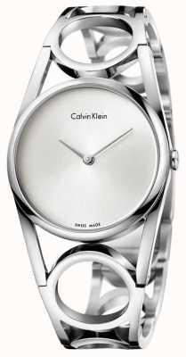 Calvin Klein Womens Round Stainless Steel Silver Dial K5U2S146
