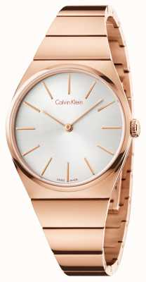 Calvin Klein Womens Supreme Rose Gold PVD Plated K6C2X646
