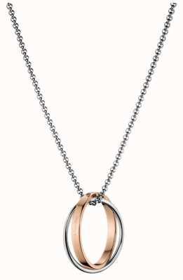 Calvin Klein Coil Stainless Steel Rose Gold Pvd Necklace KJ63BP010100