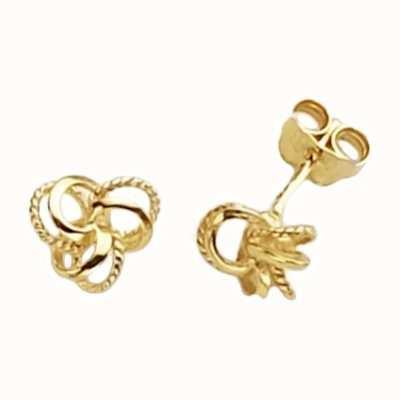 Treasure House 9k Yellow Gold Knot Stud Earrings ER115