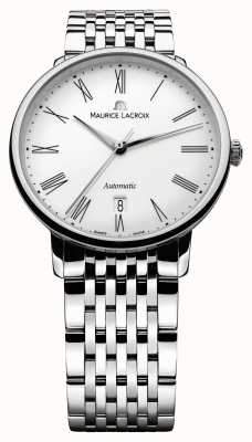 Maurice Lacroix Mens Les Classiques Tradition Automatic Steel Watch LC6067-SS002-110-1