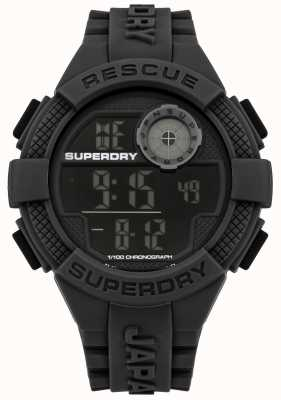 Superdry Mens Digital Black Rubber Strap SYG193B