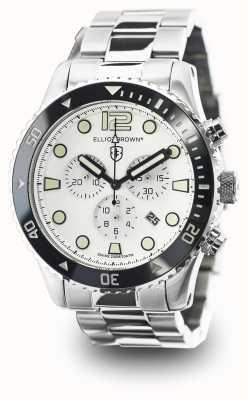 Elliot Brown Mens Bloxworth Stainless Steel White Dial 929-007-B01