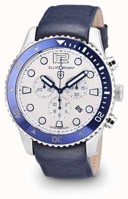 Elliot Brown Mens Bloxworth Blue Leather Cream Dial 929-008-L06