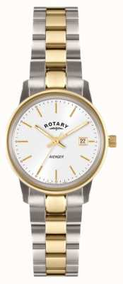 Rotary Womens Avenger | Two-Tone Stainless Steel Bracelet | LB02736/02