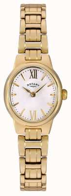 Rotary Womens Gold PVD Plated White Dial LB02748/01