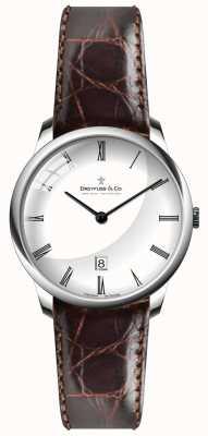 Dreyfuss Mens Brown Leather Strap White Dial DGS00135/01