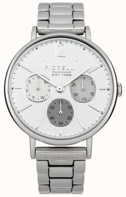 Fiorelli Womens Silver Bracelet White Dial FO002SM