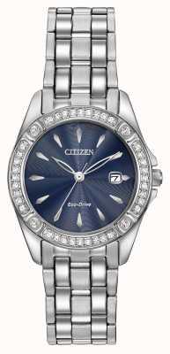 Citizen Womens Eco-Drive Silhouette Crystal Case EW2350-54L