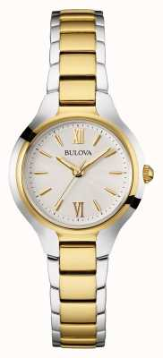 Bulova Womens Two Tone Strap Round Dial 98L217