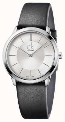 Calvin Klein Mens Minimal Silver Dial K3M221C6