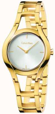 Calvin Klein Womens Class Gold Plated White Dial K6R23526