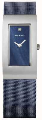 Bering Womens Rectangle Blue Dial 10817-307