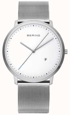 Bering Unisex Silver Strap White Dial 11139-004