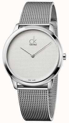 Calvin Klein Minimal Mesh Bracelet White Dial K3M2112Y