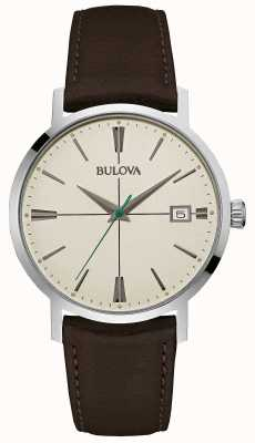 Bulova Mens Aerojet Brown Leather Strap 96B242