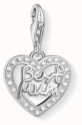 Thomas Sabo Best Mum Charm White 925 Sterling Silver/ Zirconia 1309-051-14