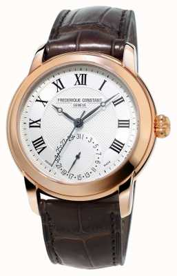 Frederique Constant Mens Classic Manufacture Brown Leather Strap FC-710MC4H4