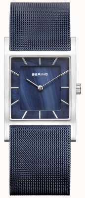 Bering Womens Blue Mesh Sprap Blue Dial 10426-307-S