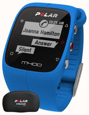 Polar Unisex M400 Bluetooth GPS (Blue with HR) Activity Tracker 90057189