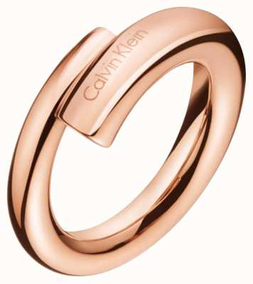 Calvin Klein Womens Scent Rose Gold PVD Ring KJ5GPR100107