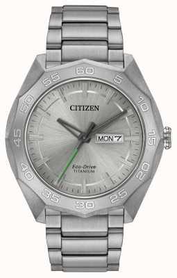 Citizen Mens Titanium Bracelet Silver Dial AW0060-54A
