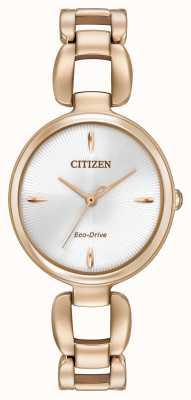 Citizen Womens Rose Gold PVD Plated Bracelet EM0423-56A