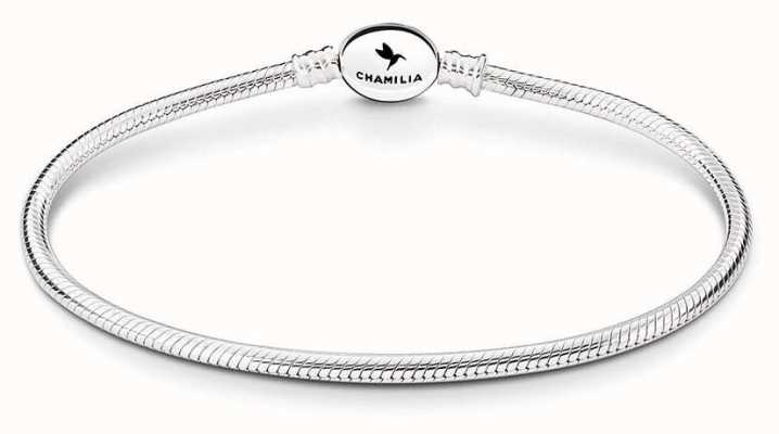 Chamilia Sterling Silver Oval Snap Bracelet 7.5 Inches 1010-0158
