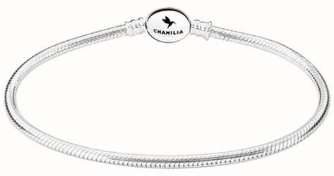 Chamilia Sterling Silver Oval Snap Bracelet 8.7 Inches 1010-0167