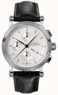 Muhle Glashutte Teutonia II Chronograph Leather Band Silver Dial M1-30-95-LB