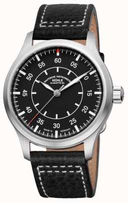 Muhle Glashutte Terrasport I Observer Leather Band Black Dial M1-37-34/4-LB