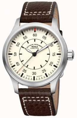 Muhle Glashutte Terrasport I Observer Leather Band Cream Dial M1-37-37/4-LB