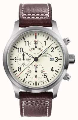 Muhle Glashutte Terrasport I Chronograph Leather Band Cream Dial M1-37-77-LB